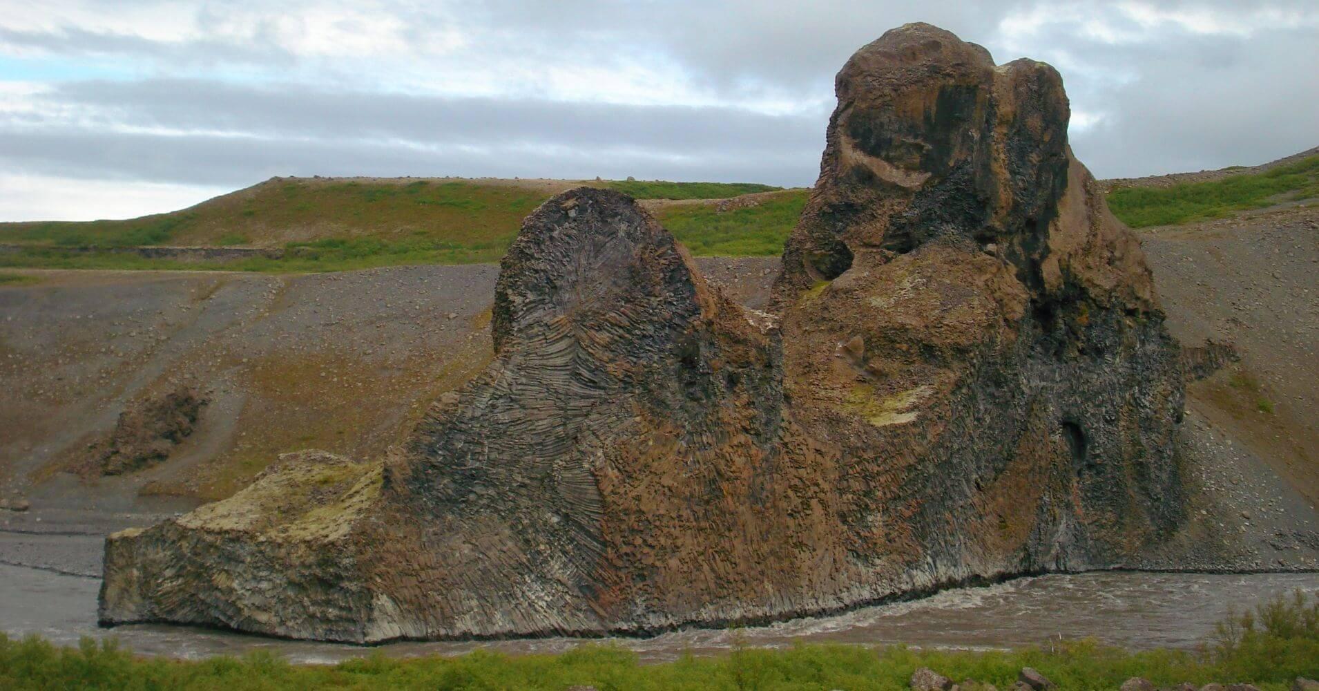 Cañón Asbirgy Jökulsargljufur. Islandia.
