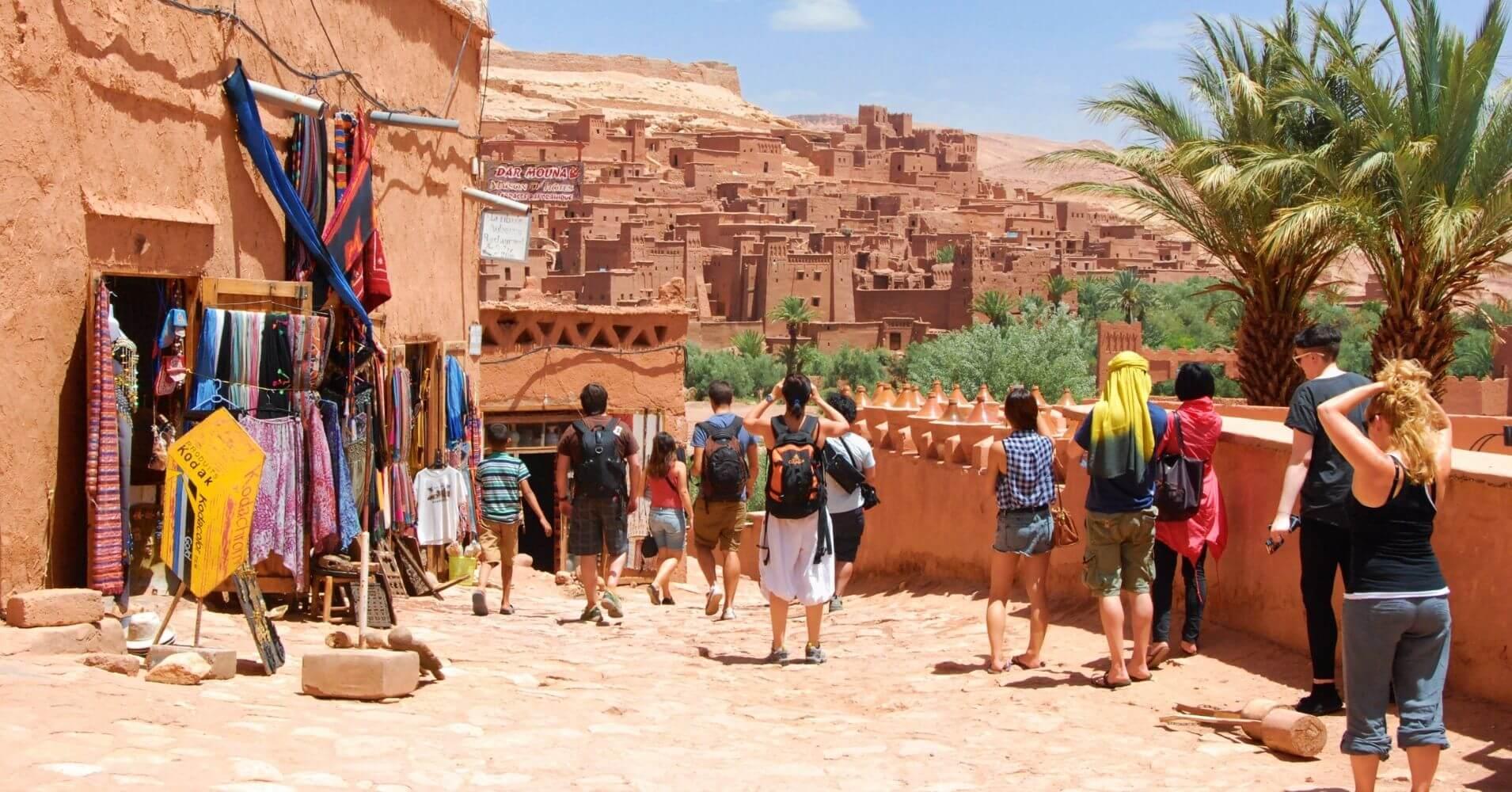 En la Kasbah Aït Ben Haddou, Marruecos.