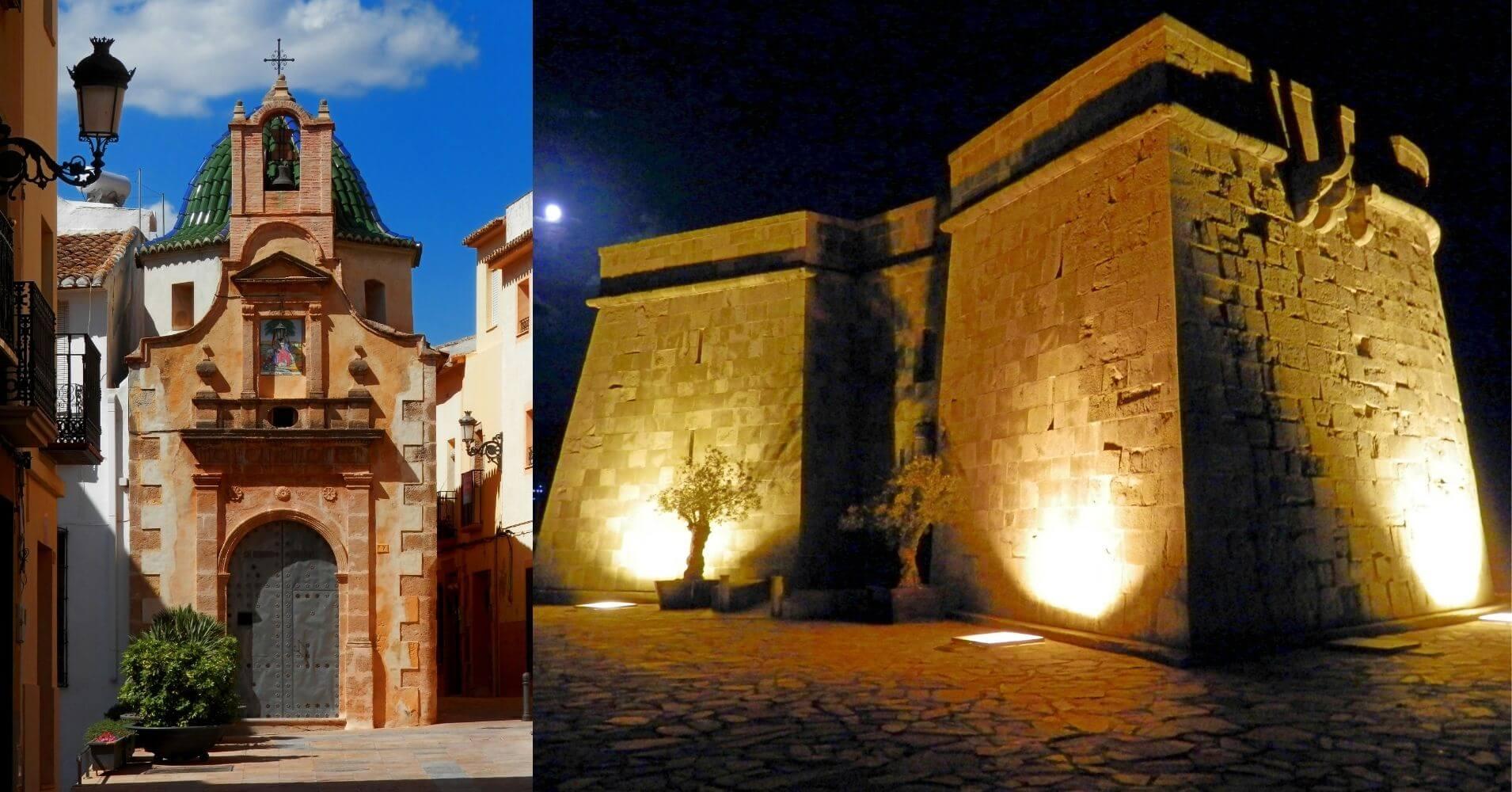 Ermita Divina Pastora y Castillo de Moraira. Alicante, Comunidad Valenciana.