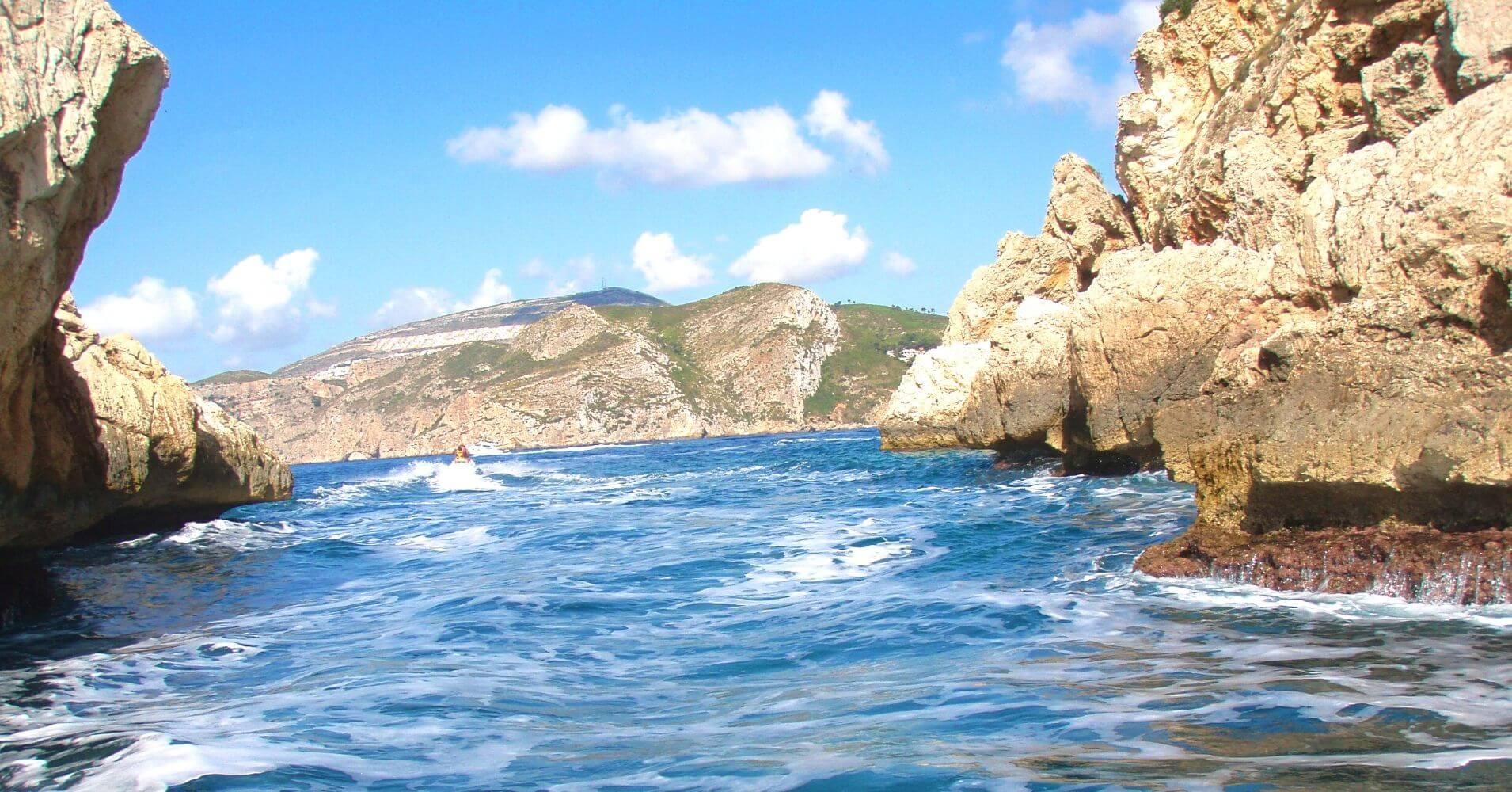 Estrecho de la Isla de Portixol, Jávea. Alicante. Comunidad Valenciana.