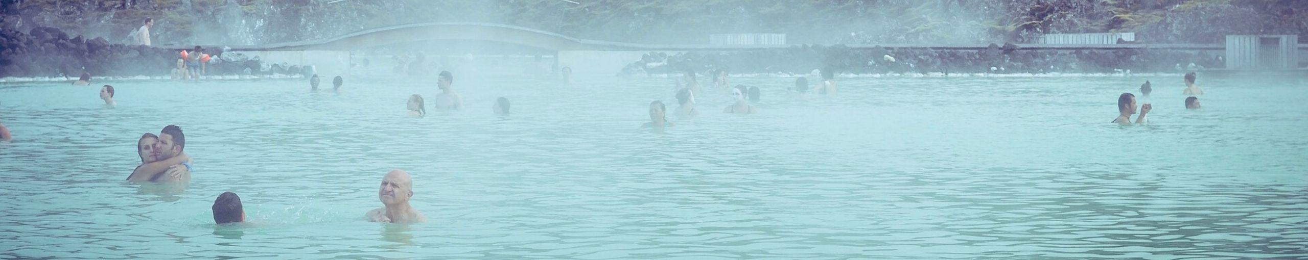Laguna Azul Blue Lagoon, Islandia.