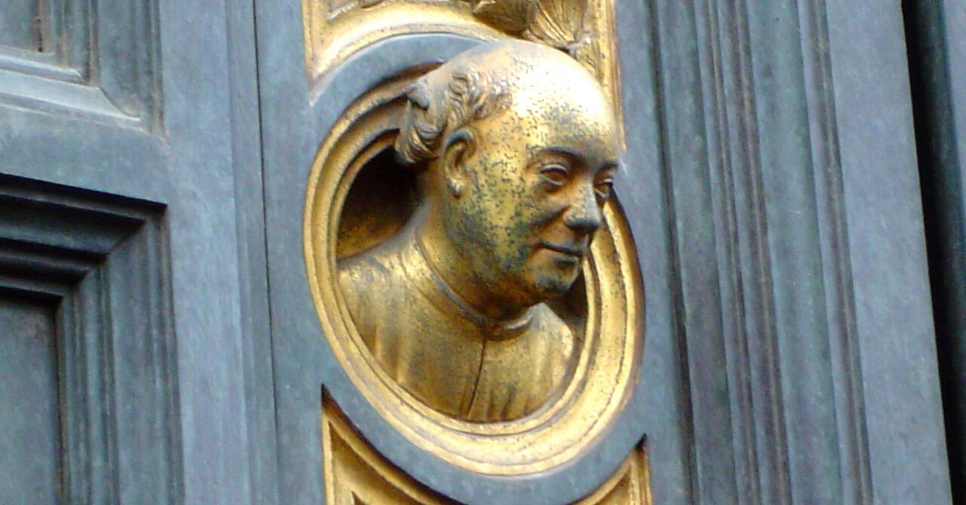 Puertas del Paraíso. Escultura de Lorenzo Ghiberti, Baptisterio de Florencia. Toscana, Italia.