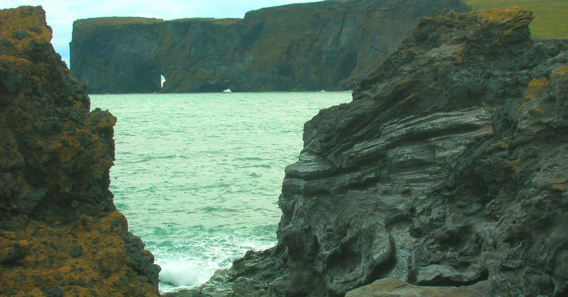 Acantilados del Sur de Islandia.