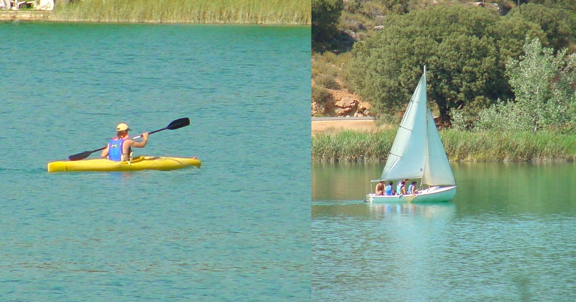 Actividades de Agua en Parque Natural Lagunas de Ruidera. Ciudad Real, Albacete. Castilla la Mancha.