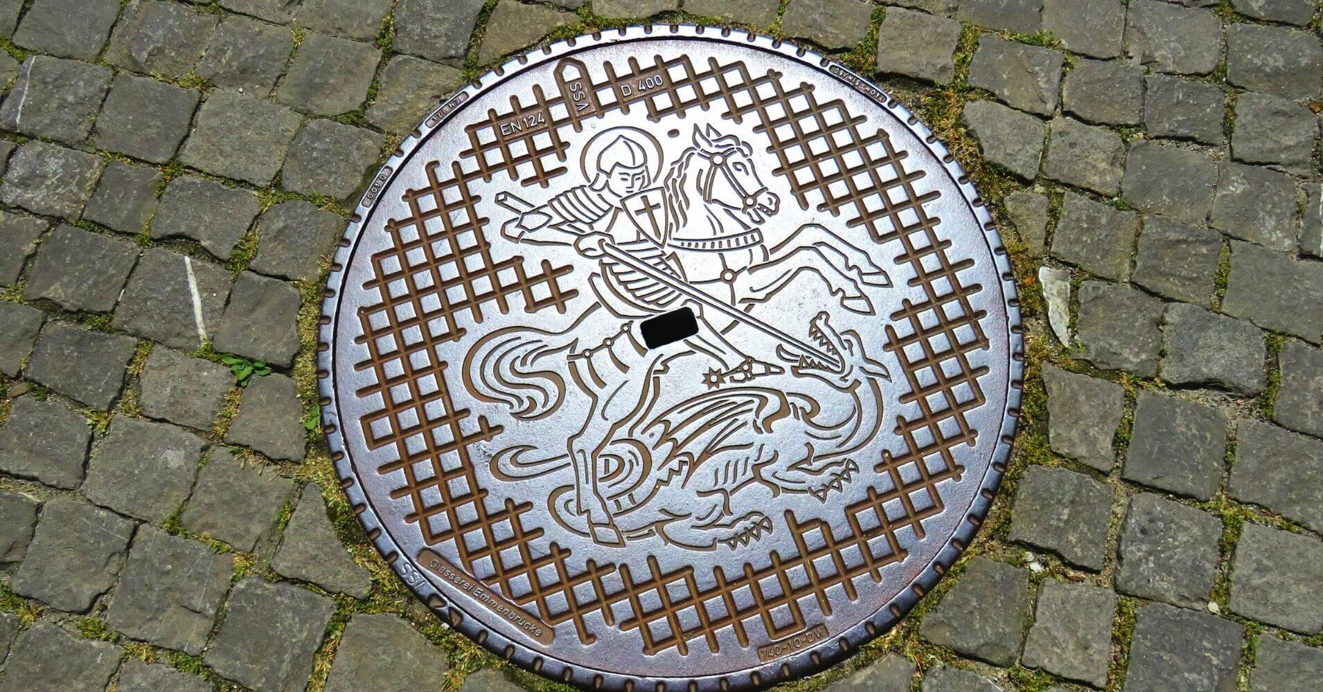 Alcantarillas de Stein Am Rhein. Suiza.