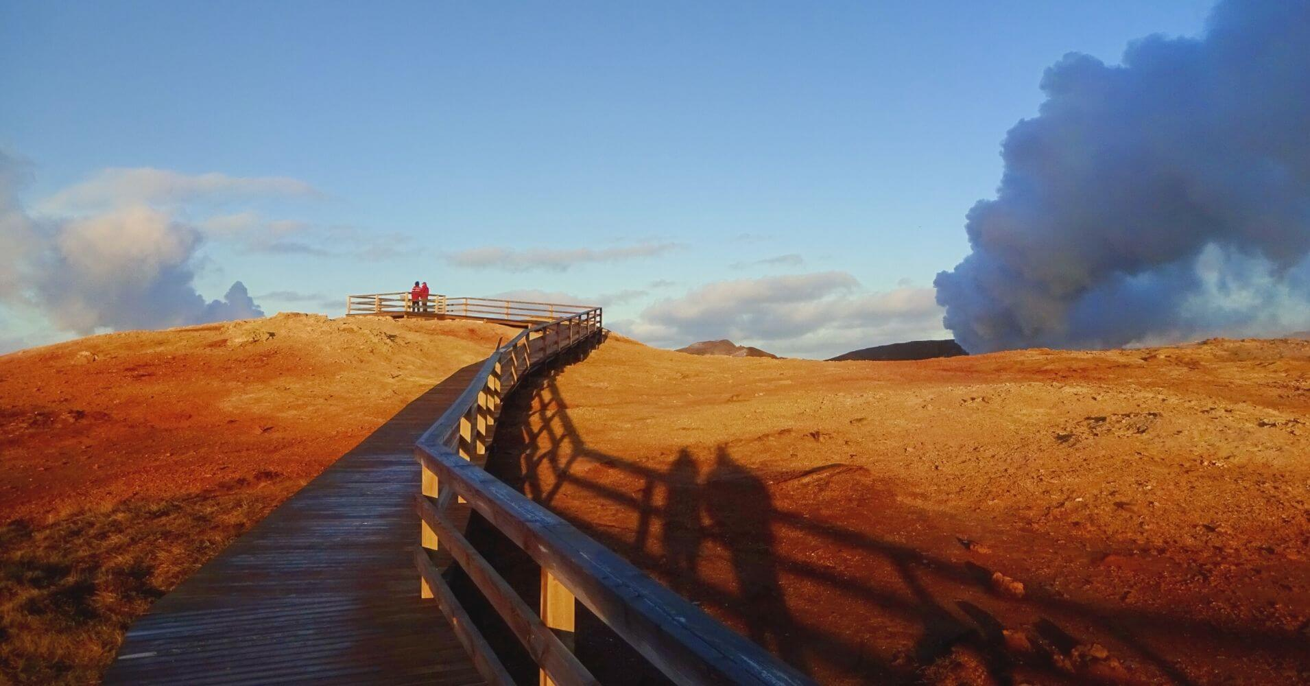 Área Geotermal de Gunnuhver. Islandia en Invierno.