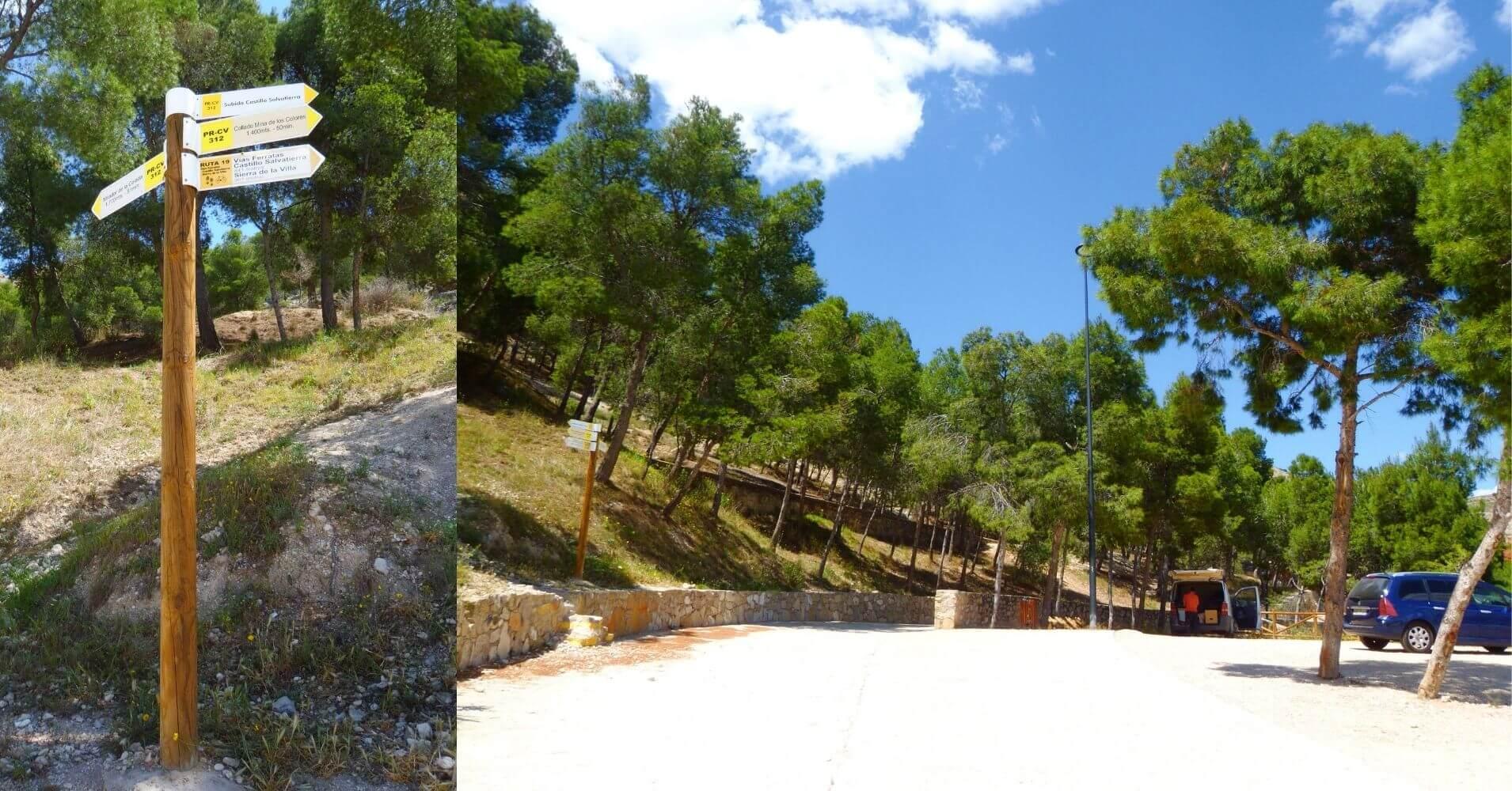 Área Recreativa de las Cruces. Villena, Alicante. Comunidad Valenciana.