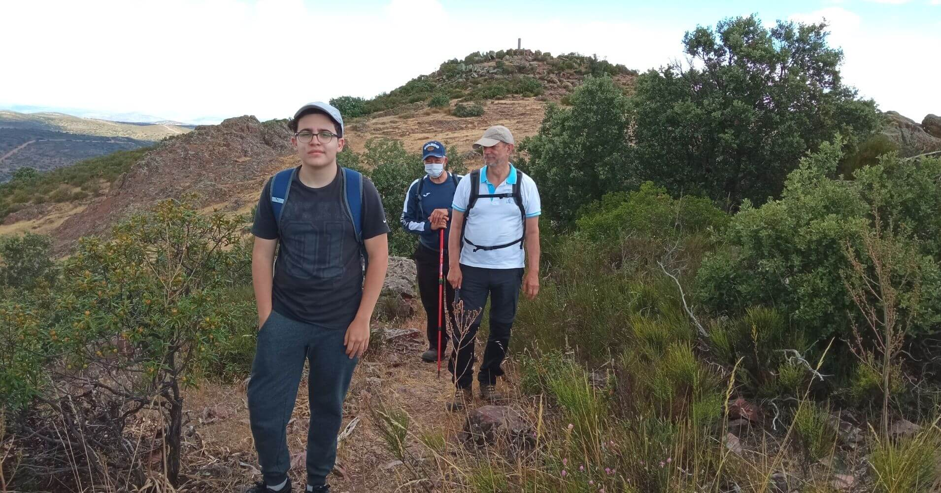 Bajada del Pico Mingoliva. Montes de Toledo. Madridejos. Toledo. Castilla la Mancha.