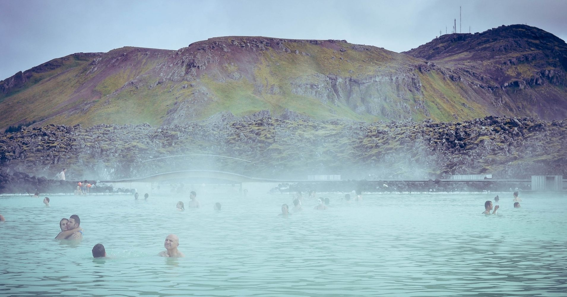 Baño en la Laguna Azul Blue Lagoon. Islandia.