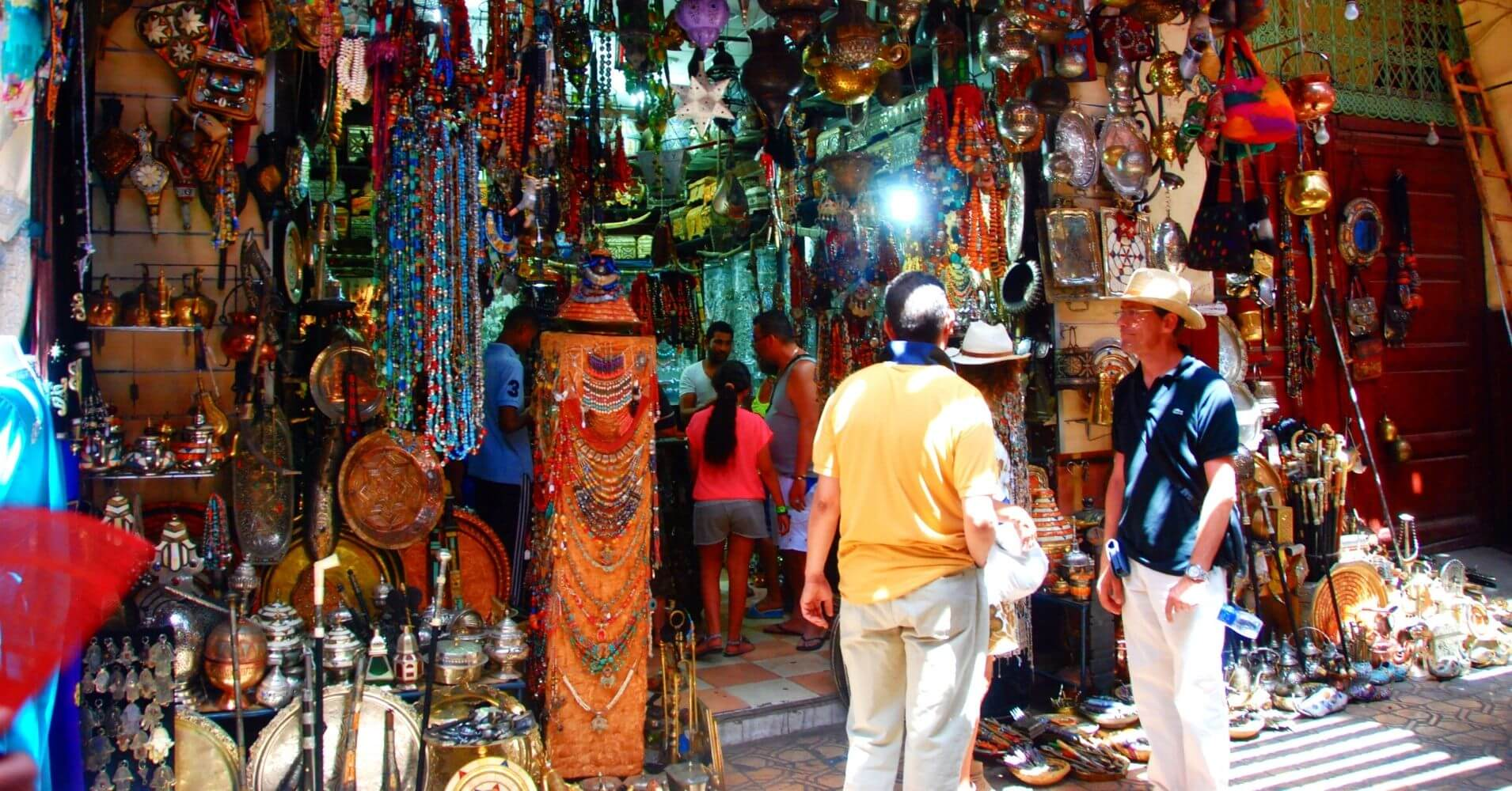 Bazar de la Medina de Marrakech, Marruecos.
