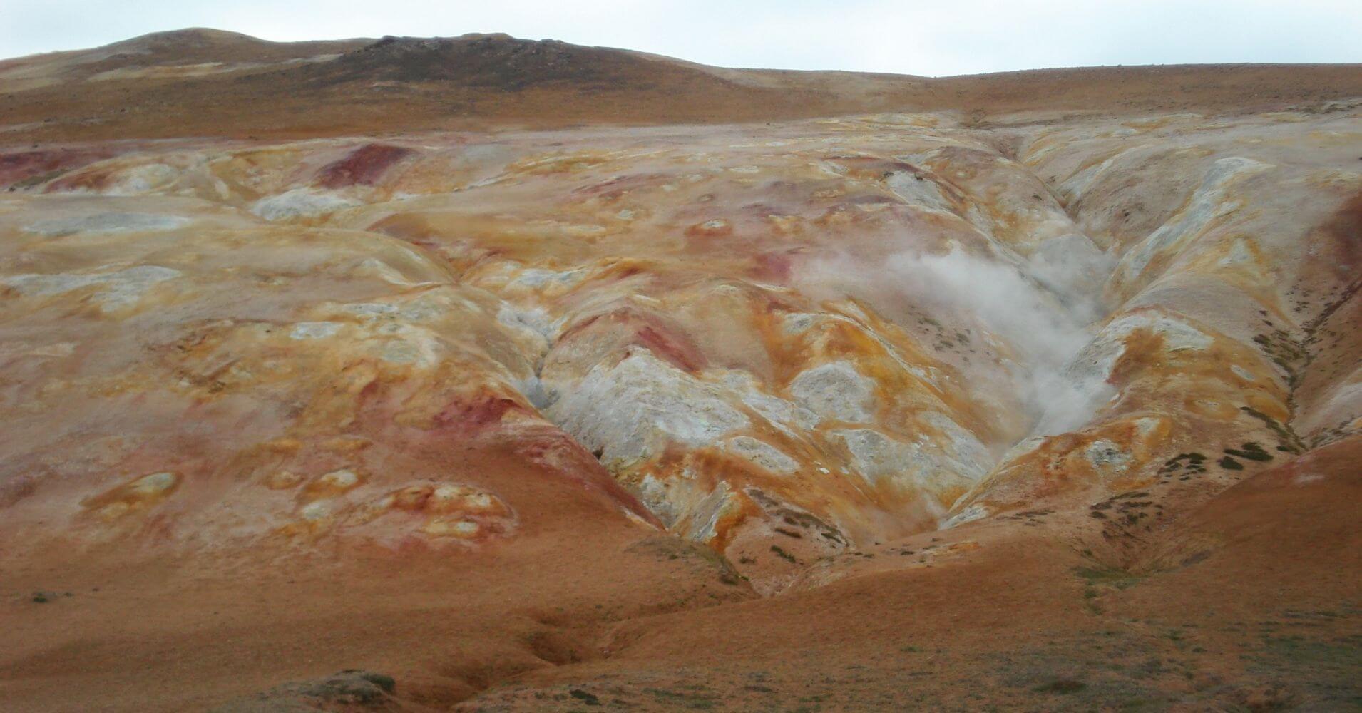 Caldera Volcánica Krafla. Norte de Iceland.