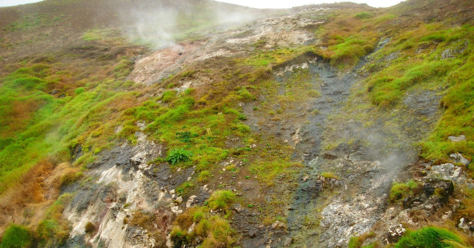 Camino de la Cascada de Skógafoss. Actividad Geotérmica, Islandia.