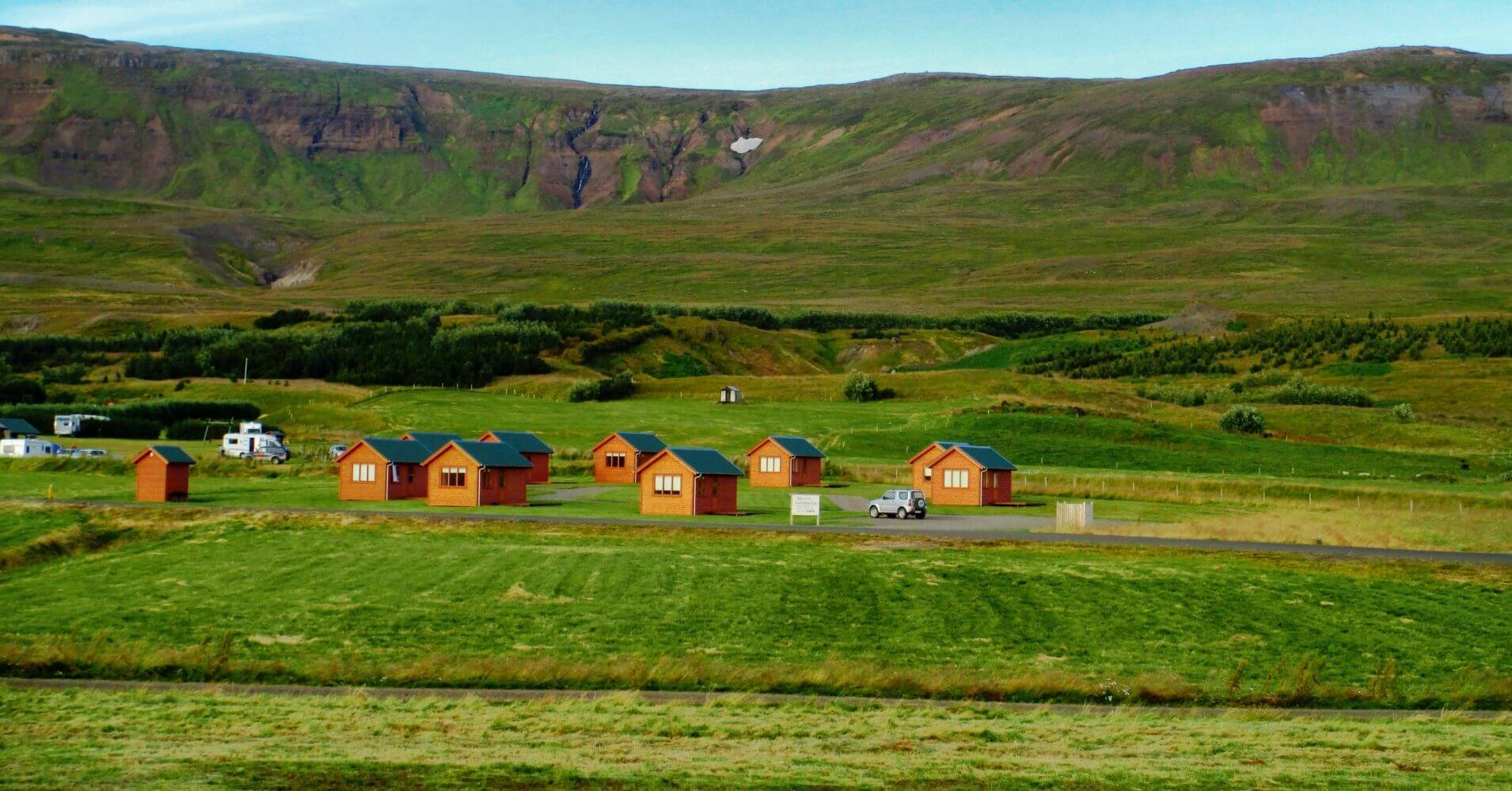 Camping Península de Vatnsnes. Hvammstangi, Norðurland Vestra. Islandia.