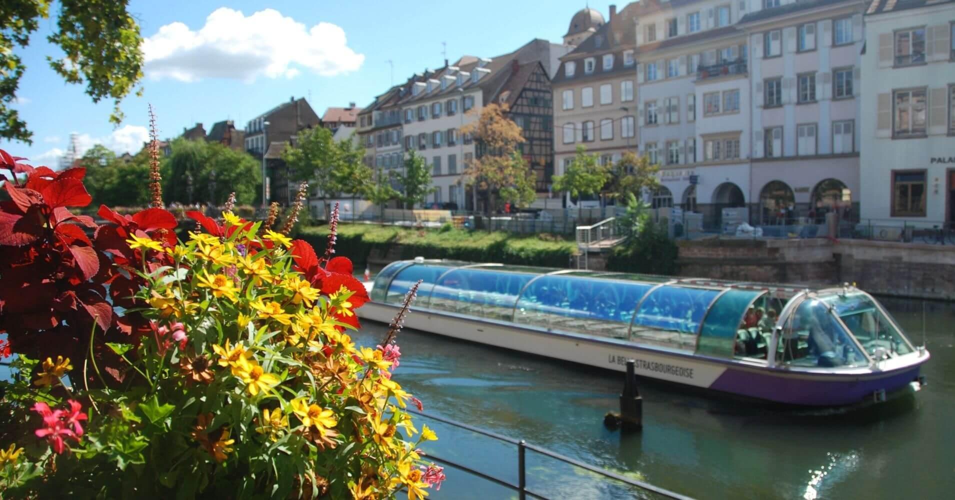 Canales de Estrasburgo. Alsacia, Bajo Rin. Gran Este. Francia.