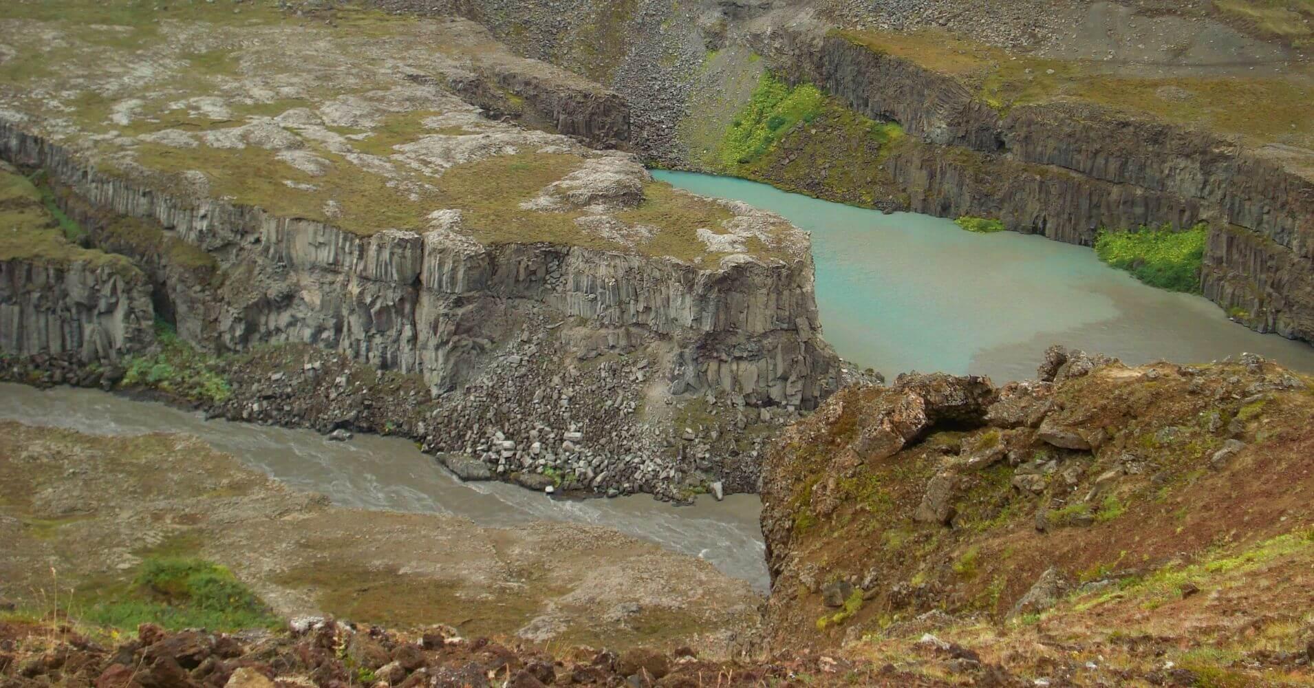 Cañón del Río Jökulsa. Islandia.