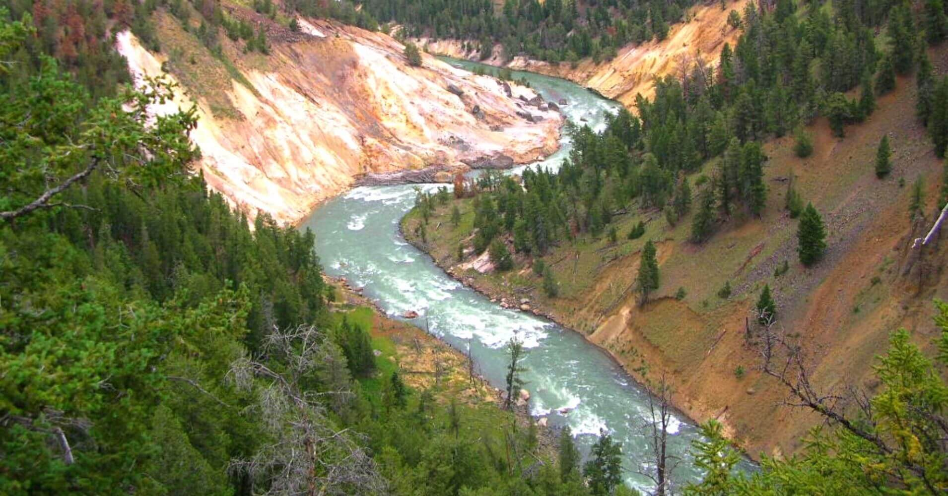 Cañón del Rio Yellowstone. Wyoming, Estados Unidos.