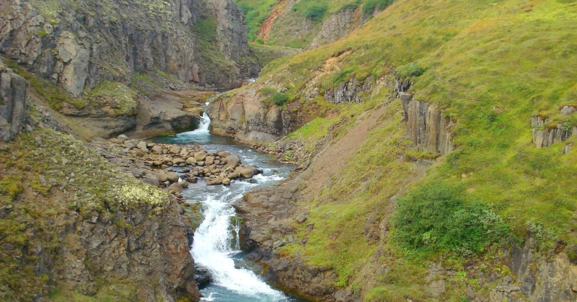 Cañón Jökulsárgljúfur Cascada Dettifoss. Islandia.