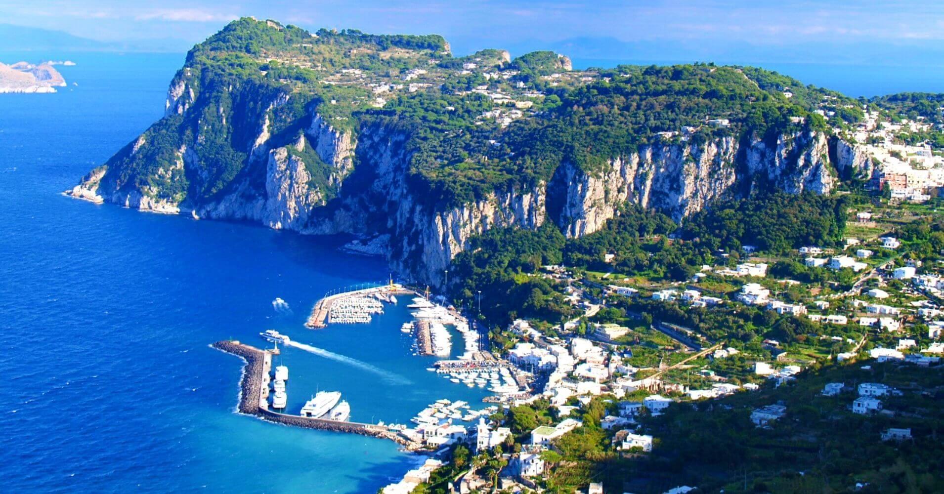 Capri la Isla Bonita en Campania, Italia.