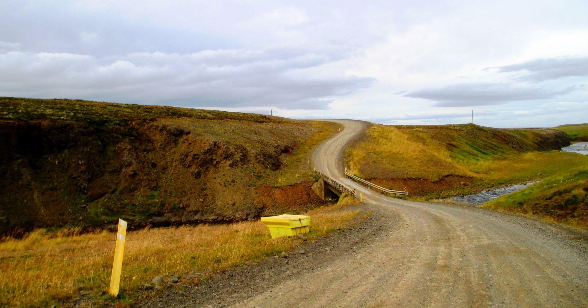 Carretera en Hvammstangi. Norðurland Vestra. Islandia.