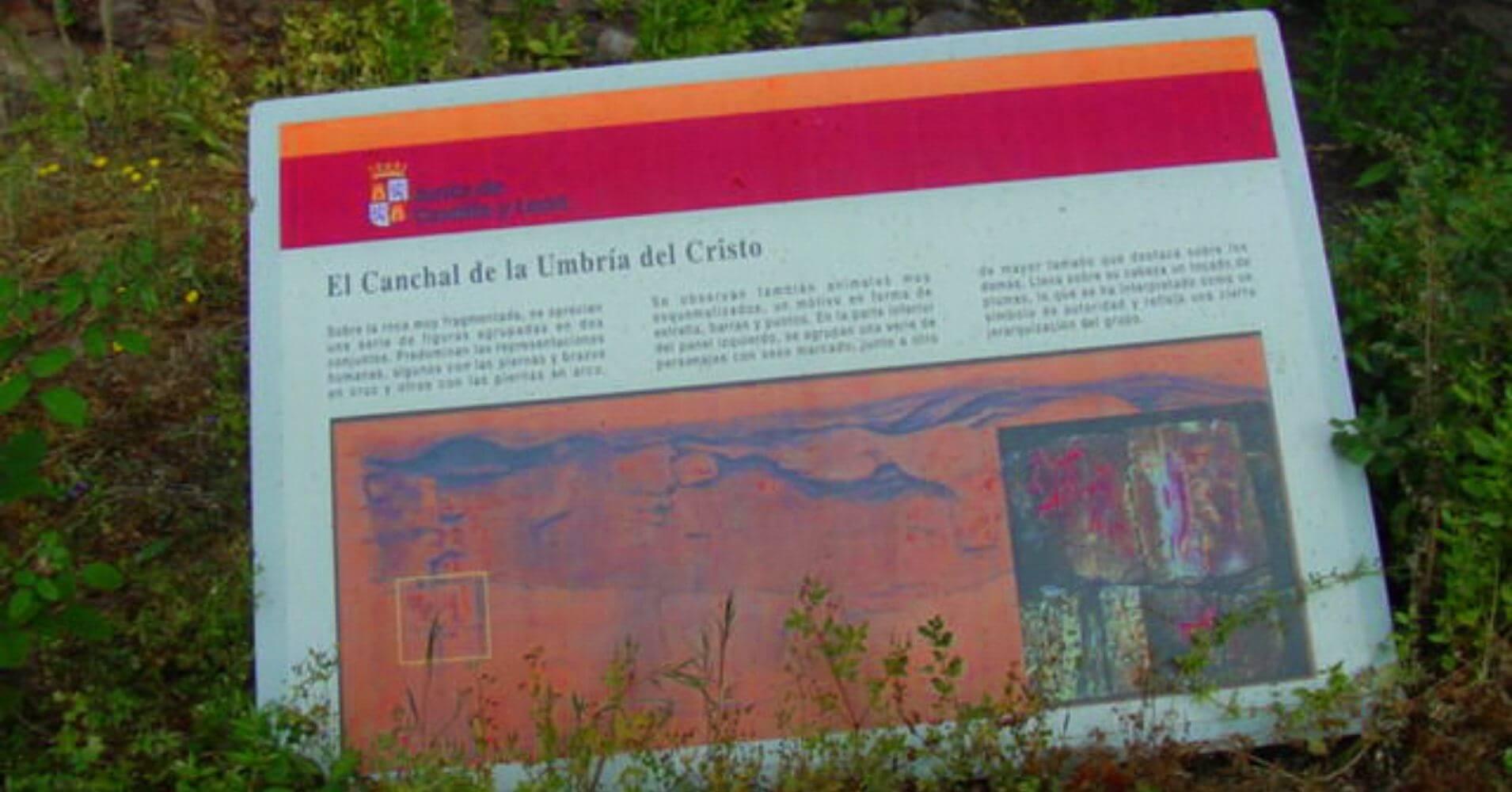 Cartel Canchal de la Umbría del Cristo. Valle de Las Batuecas, Salamanca. Castilla y León.