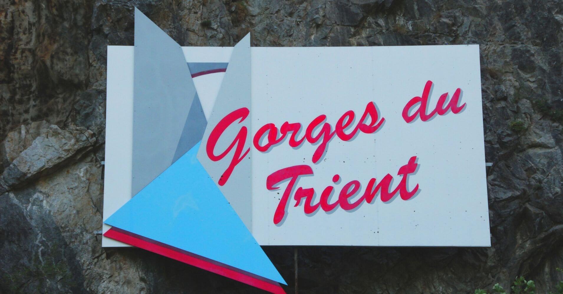 Cartel Gorges du Trient. Valais, Suiza.