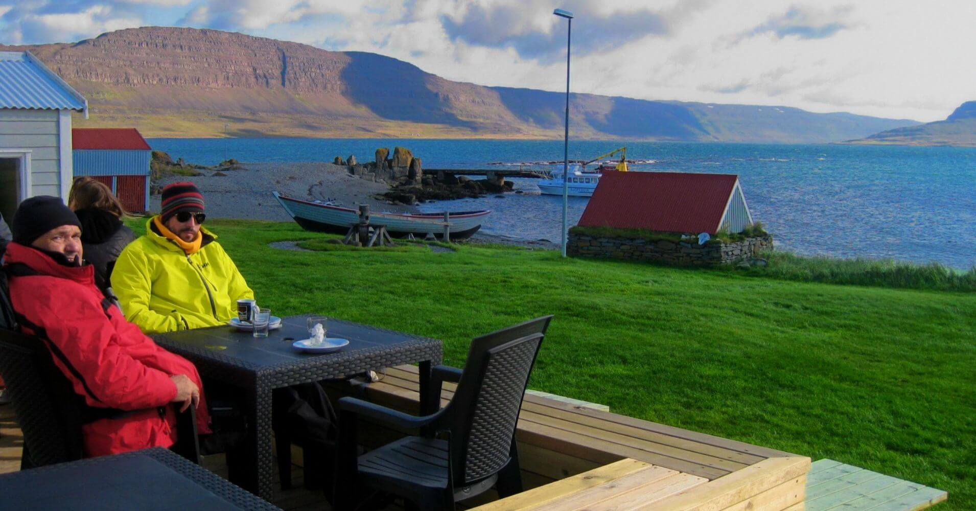 Casa Isla de Vigur. Ísafjörður. Vestfirðir en Islandia.