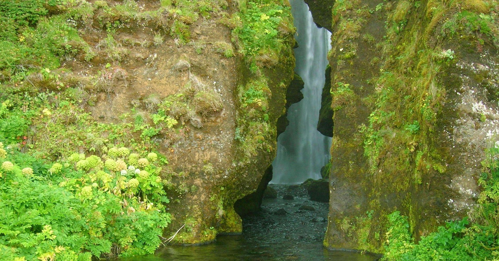 Cascada de Glúfraföss. Road Trip Iceland.