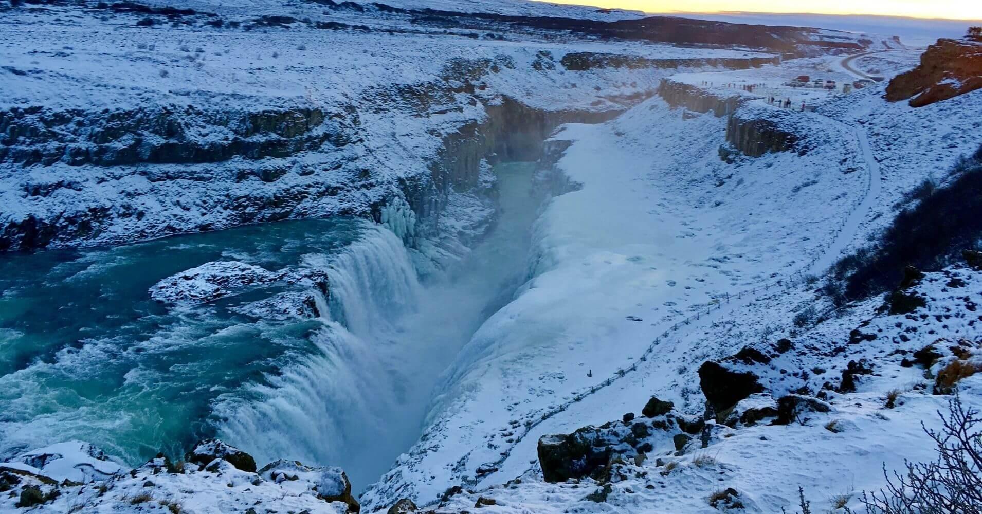 Cascada de Gullfoss. Islandia en Invierno.