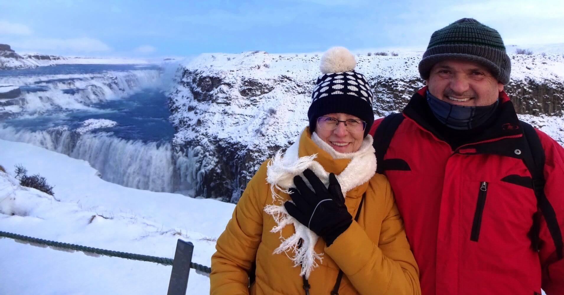 Cascada de Gulfoss. Viaje de Islandia en Invierno.