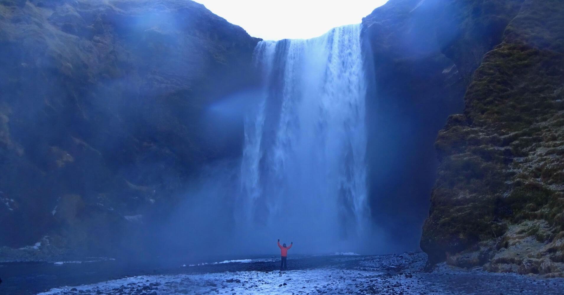 Cascada de Skógafoss. Islandia.