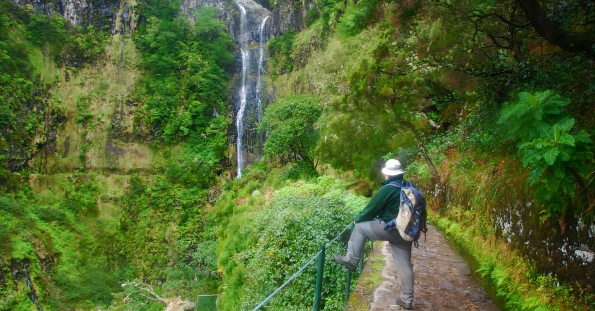 Cascada do Risco en la Isla de Madeira. Portugal.