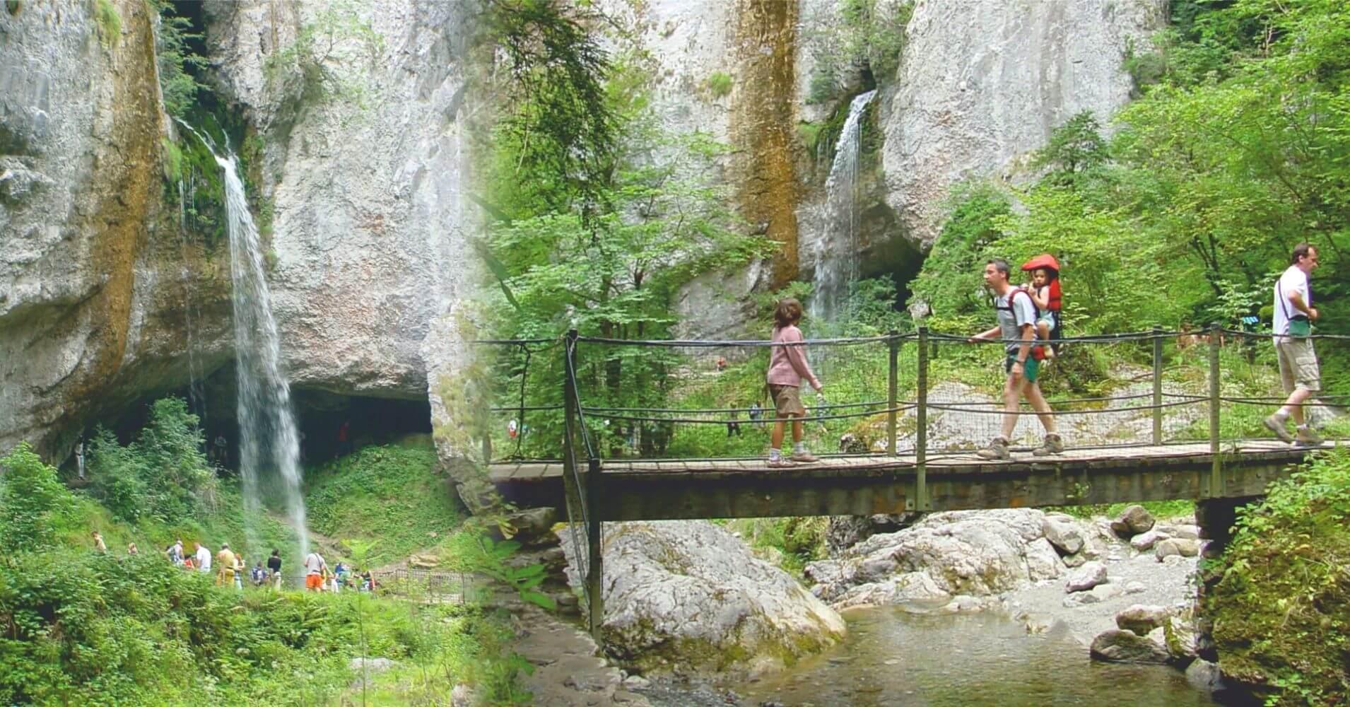 Cascada Gorges de Kakoueta. Sainte-Engrâce. Pirineos Atlánticos. Nueva Aquitania. Francia.