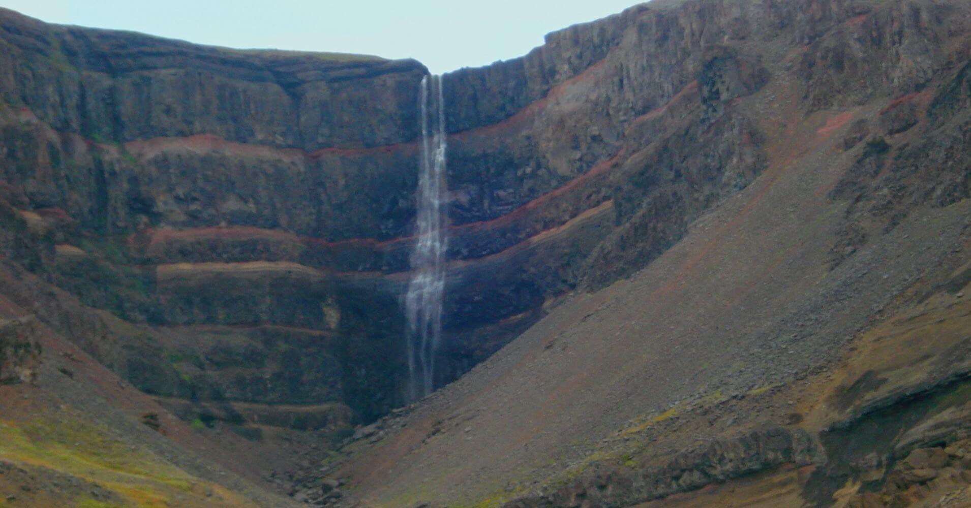 Cascada Hengofoss. Islandia.