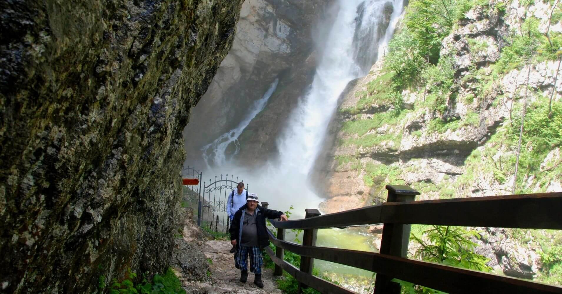 Cascada Savica. Eslovenia.