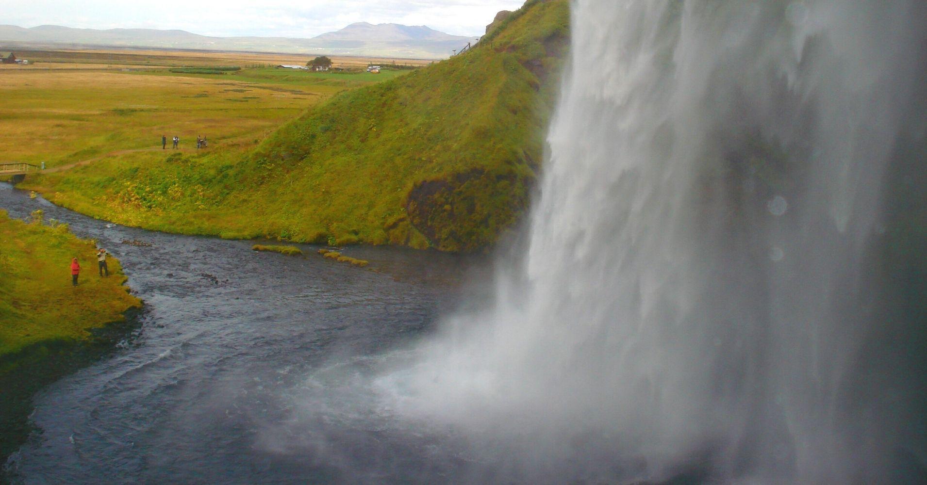 Cascada Seljanlandsföss. Road Trip por Islandia.