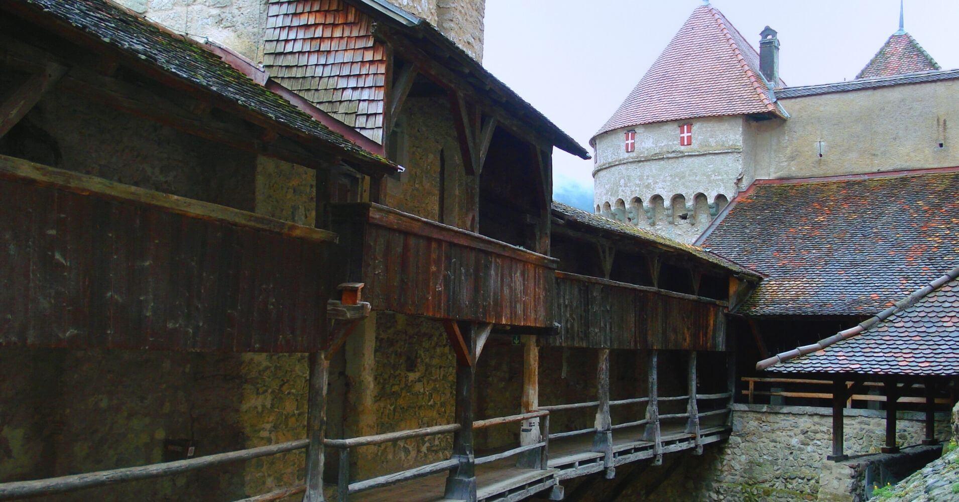 Castillo de Chillon. Veyteaux, Suiza.
