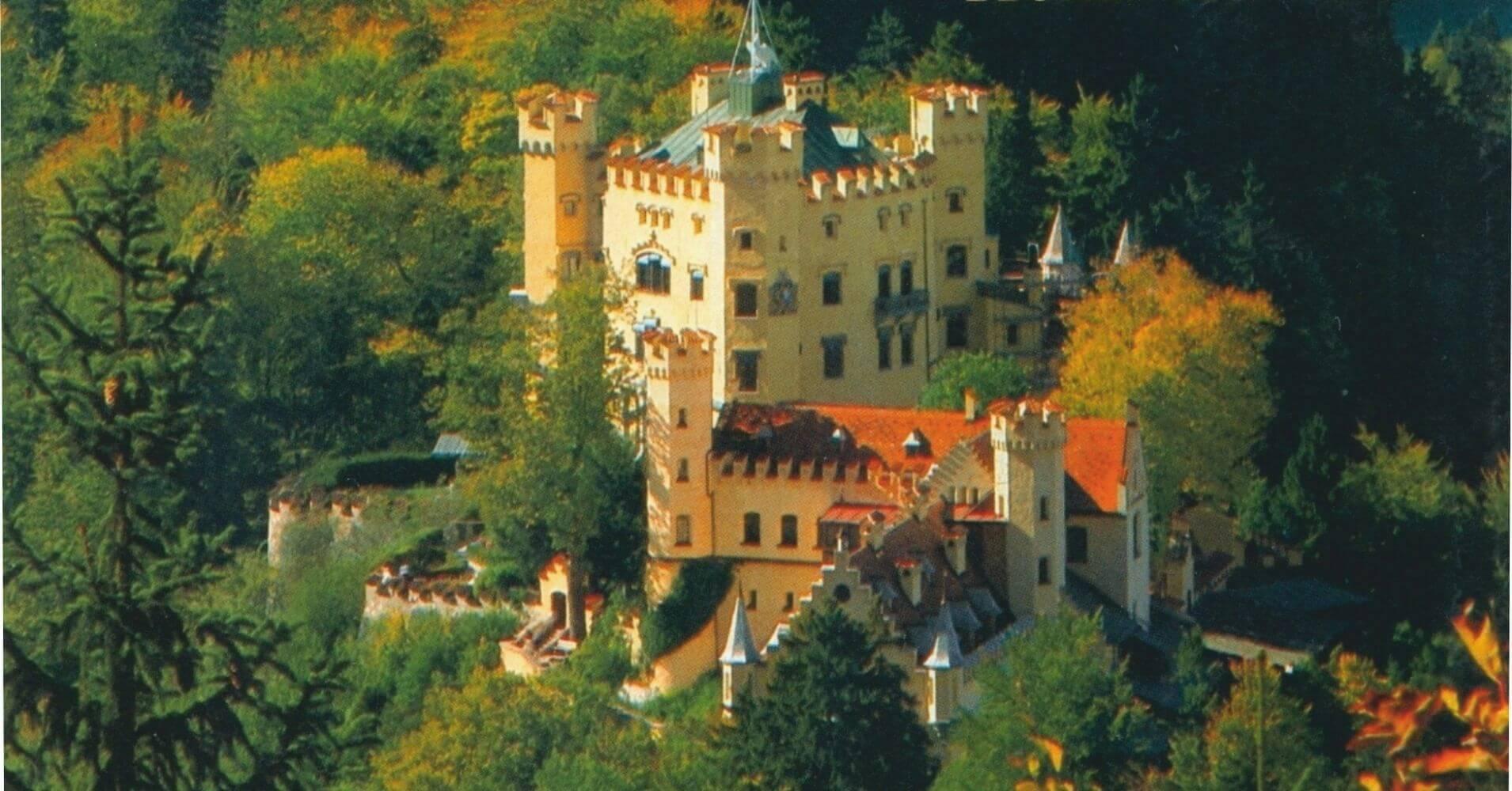 Castillo de Hohenschwangau en Baviera, Alemania.