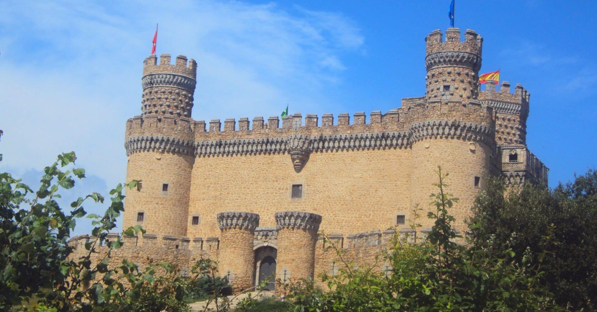 Castillo de Manzanares El Real. Comunidad de Madrid.