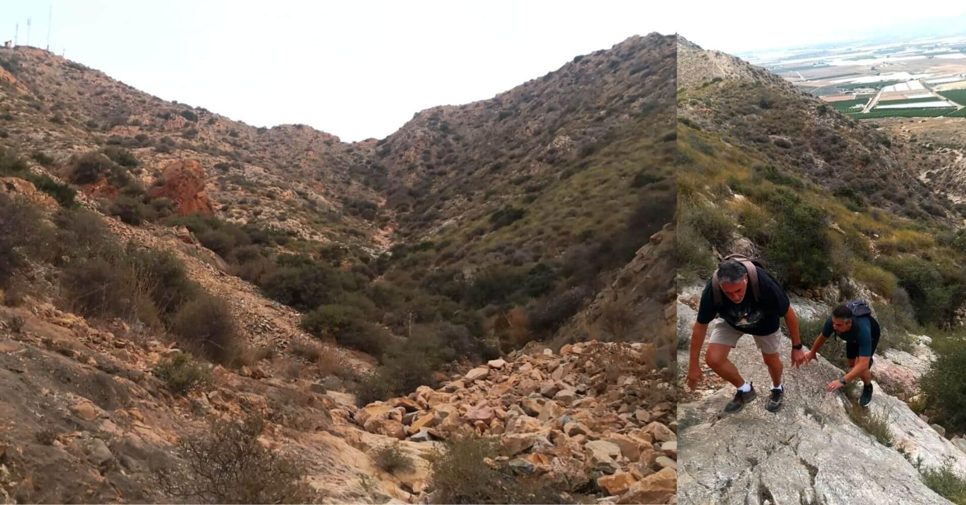 Cauce Seco y Trepada a la Cumbre del Cabezo Gordo. Torre Pacheco. Murcia.