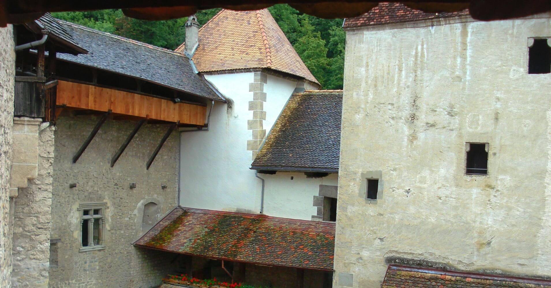 Chateau de Chillon. Lago Lemán. Veyteaux, Vadud. Suiza.