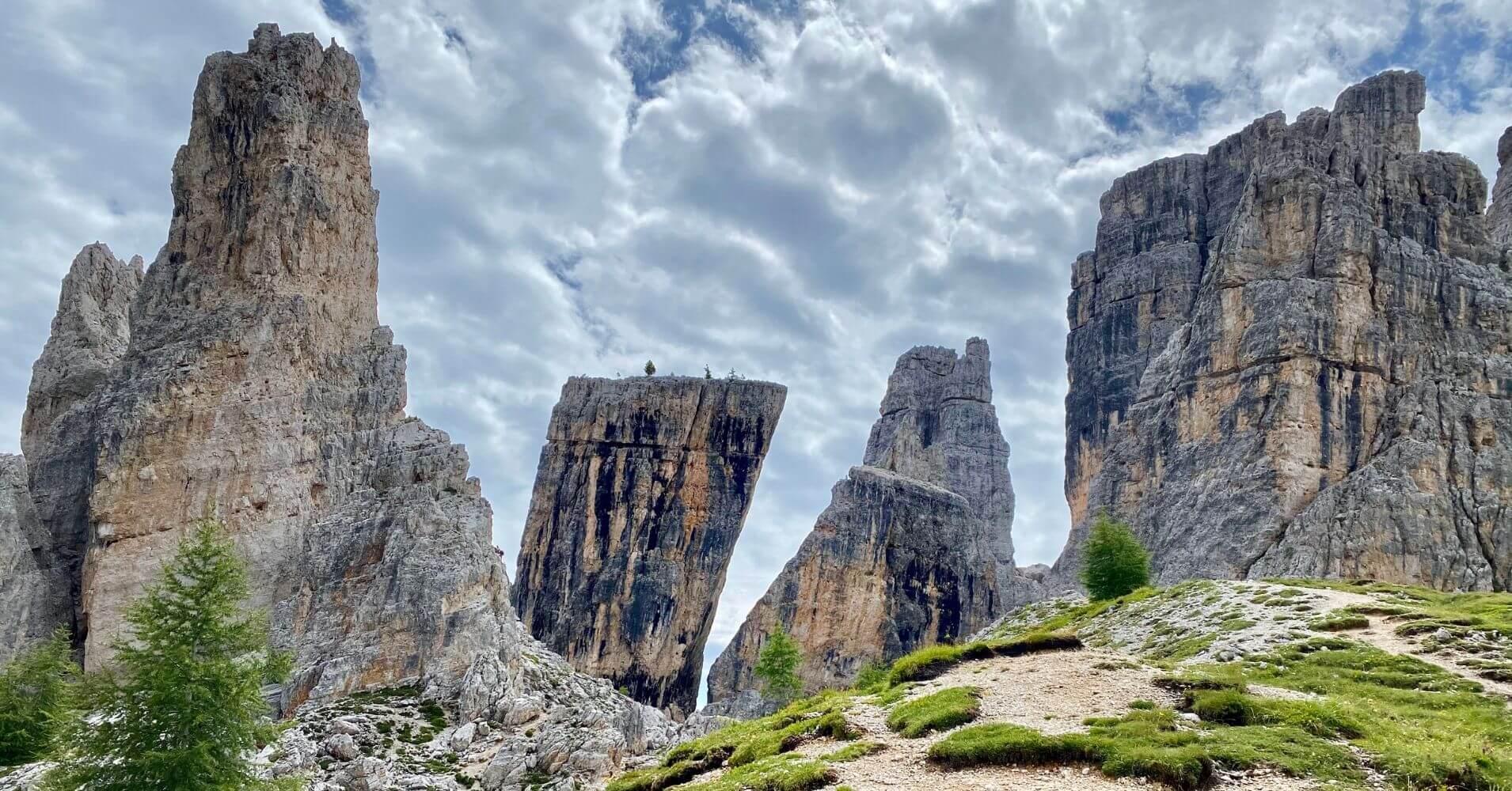 Cinque Torri, Cinco Torres. Cortina d' Ampezzo. Véneto. Italia.