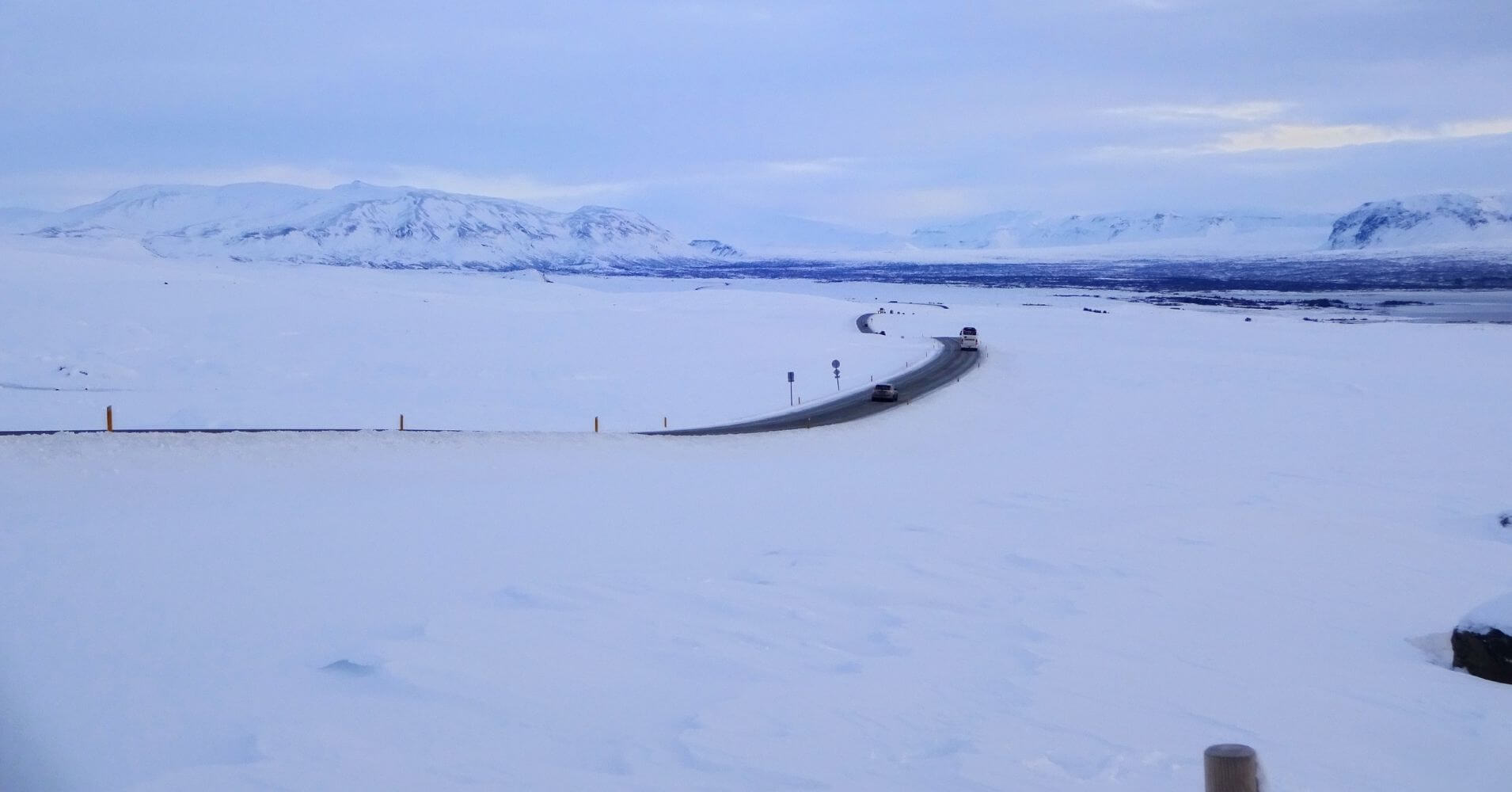 Circulo Dorado, Paisaje islandés invernal.