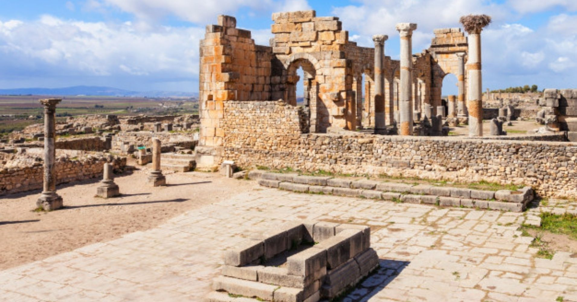 Ciudad Romana de Volubilis Tesoros Olvidados, Marruecos.