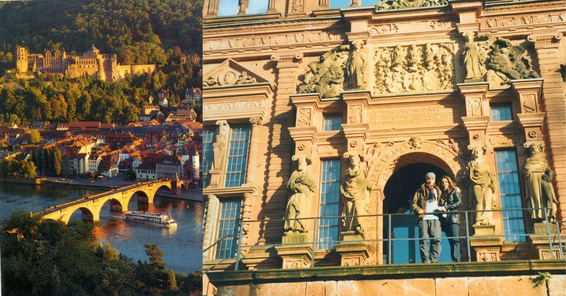 Ciudad y Castillo de Heidelberg. Baden-Wurtemberg. Alemania.