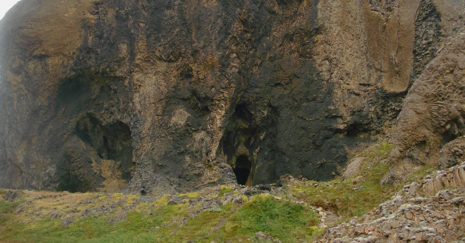 Columnas de Basalto. Jökulsárgljúfur Cascada Dettifoss. Islandia.