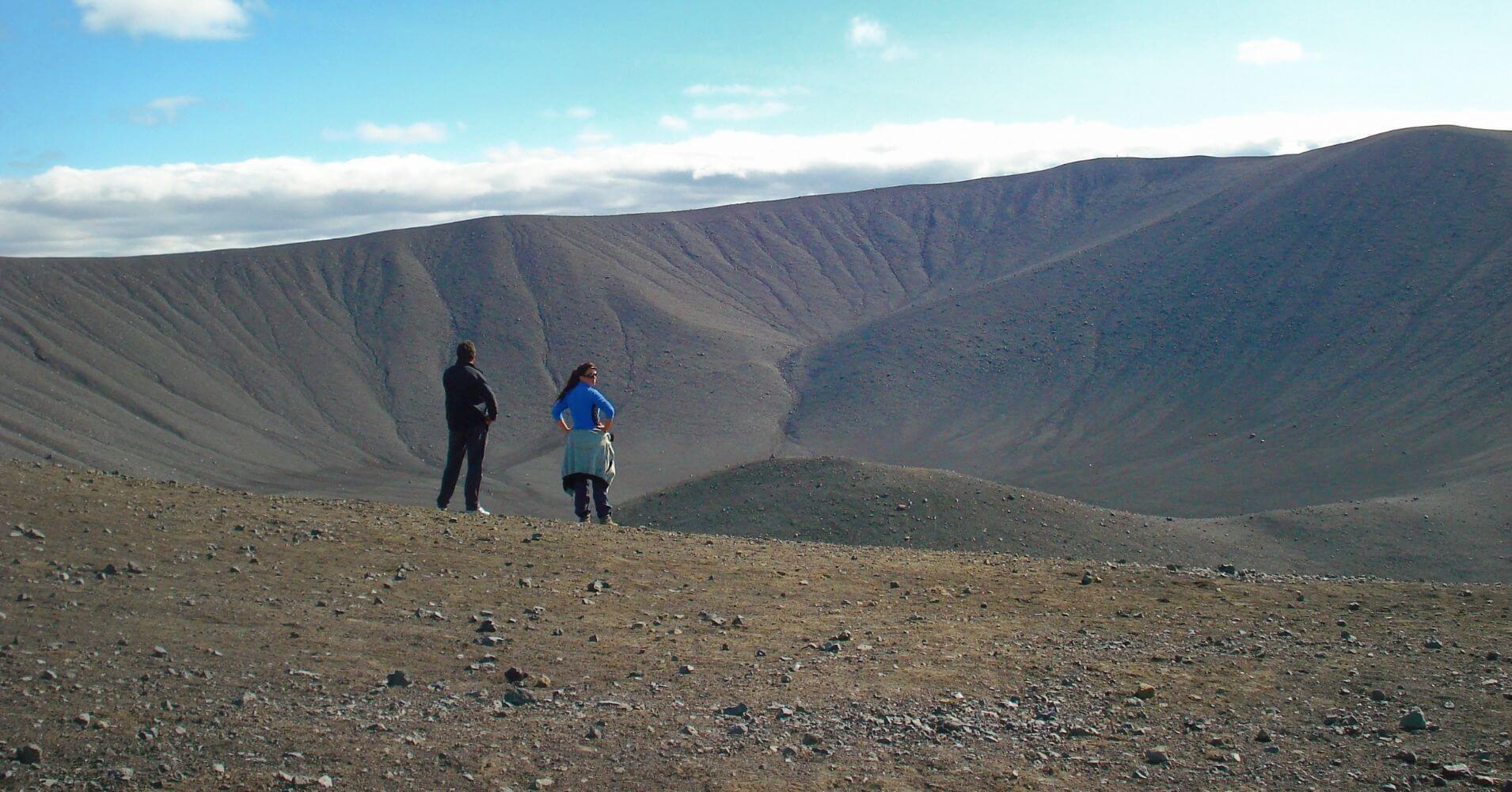 Cráter del Volcán Hverfjall. Lago Mývatn, Norte de Islandia.