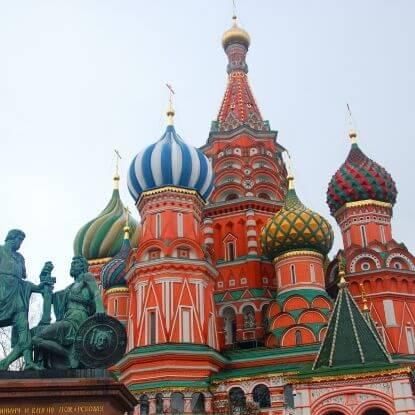 Cuatro días en Moscú, Rusia.