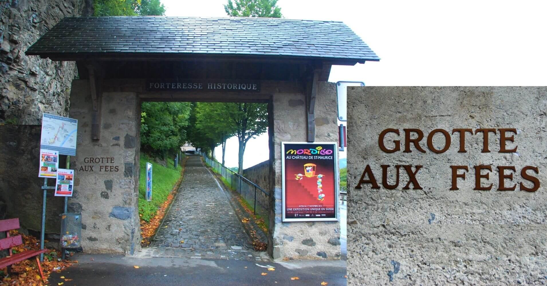 Cueva de las Hadas. Grotte Aux Fées en St. Maurice, Valais. Suiza.