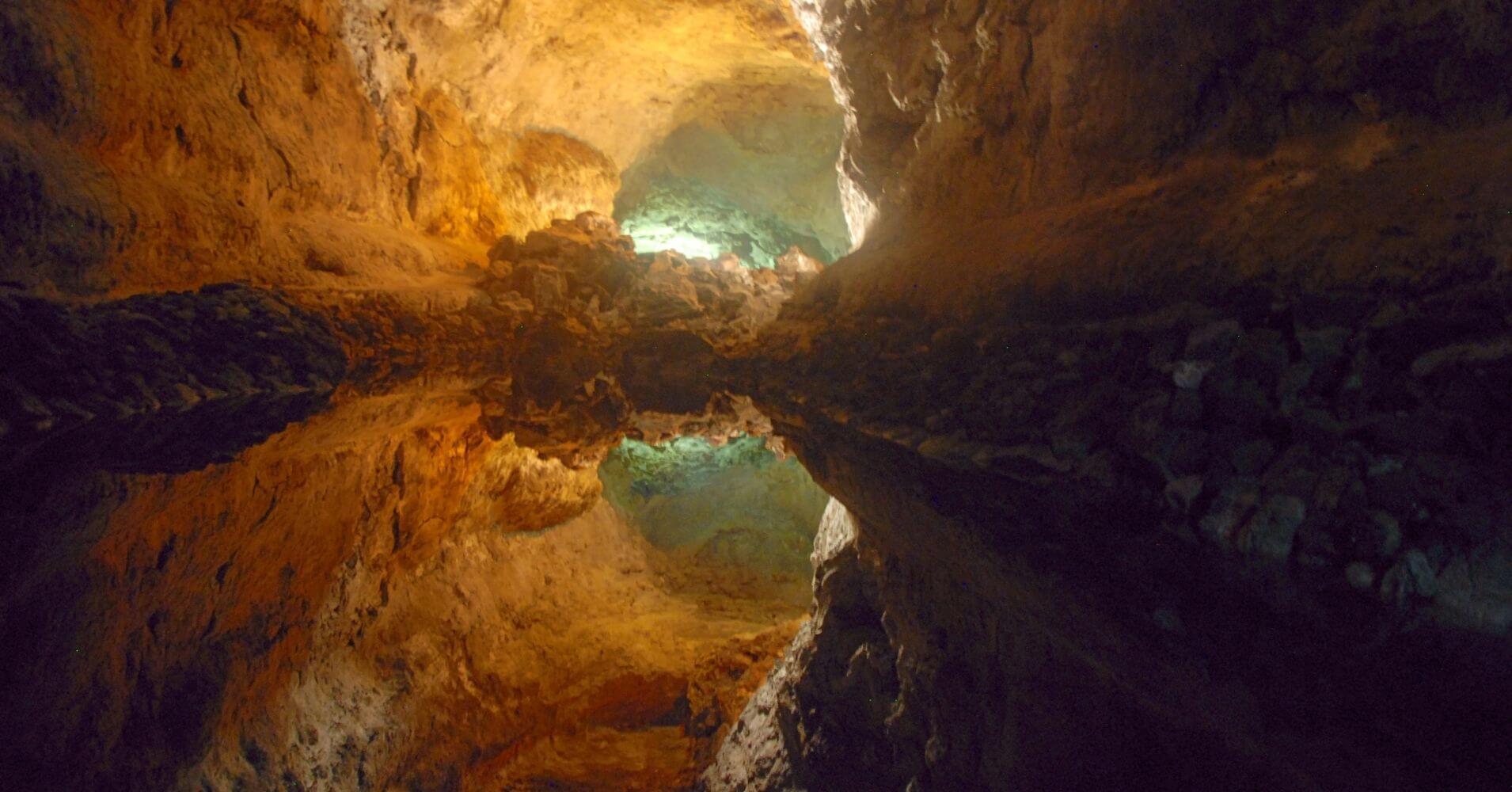 Cueva de los Verdes. Isla de Lanzarote. Islas Canarias. España.
