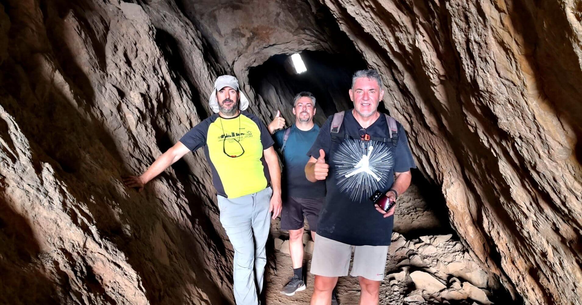 Cueva Galería de la Veta Minera. Paisaje Protegido del Cabezo Gordo. Torre Pacheco. Murcia.